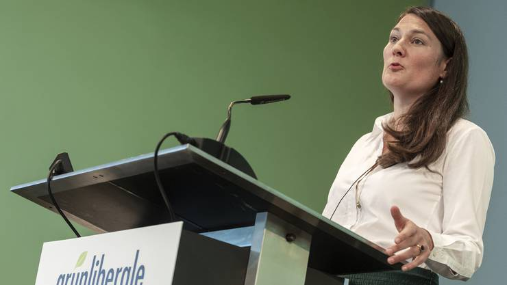 Fraktionspräsidentin Tiana Angelina Moser an der letztjährigen Delegiertenversammlung der GLP.