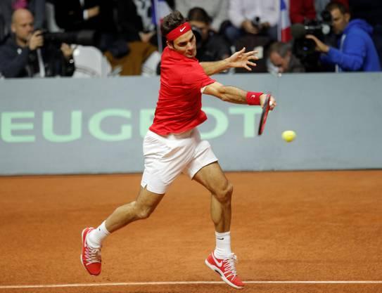Federer hat Mühe