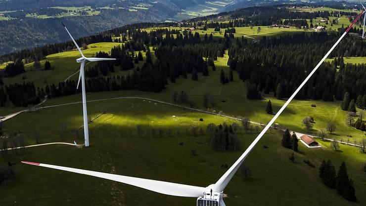 Windpark auf dem Mont-Crosin im Berner Jura. (Archivbild)