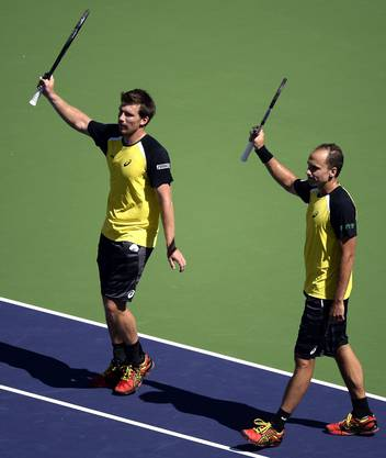 Stehen im Final in Indian Wells: Alexander Peya (links) und Bruno Soares.