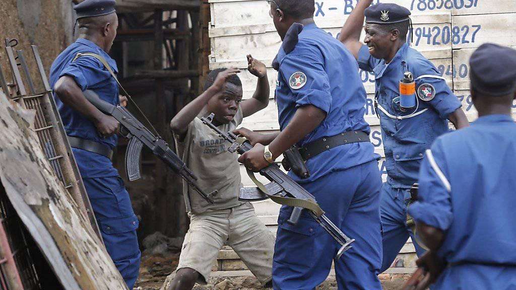 Aufstand in Burundi: Nach den Wirren im Zuge der Wahlen schickt die UNO eine Polizeimission in das afrikanische Land. (Archivbild)