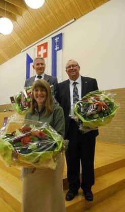 Wahl zum Gemeinderatspräsidenten. Im Bild: Esther Sonderegger, Markus Erni und Martin Romer.