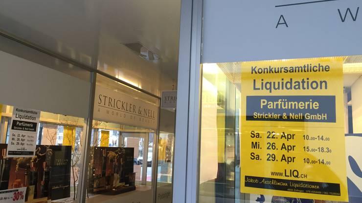 Über die Firma Strickler & Nell wurde am 8. Februar 2017 der Konkurs eröffnet.