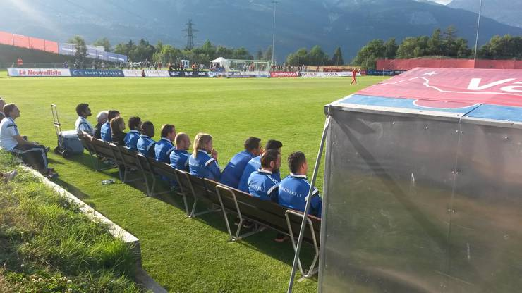 Die FCB-Ersatzbank im Testspiel gegen Donezk