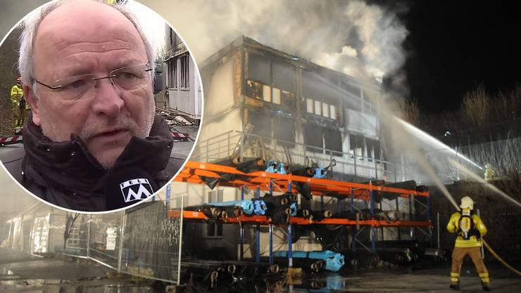 Am Mittwochabend, 10. Januar, brannte das Gebäude der Fischzuch in den Obergeschossen vollständig aus.