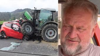Der Landwirt Hanspeter Fritschi ist unschuldig. Vor einem halben Jahr prallte ein PW-Lenker in seinen Traktor und stirbt. Auch wenn ihn keine Schuld trifft, wird er den Unfall nie vergessen können.