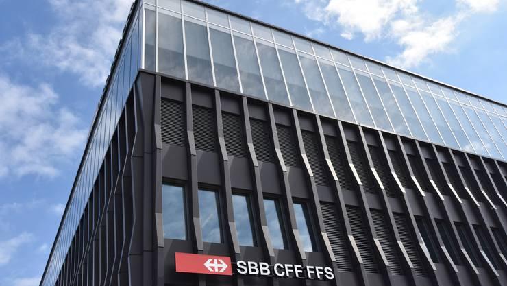 Betriebszentrale Mitte der SBB beim Bahnhof Olten.