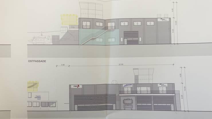 Pläne des Neubaus