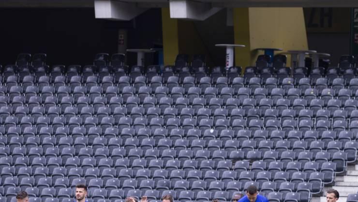 Die Spieler des FC Basel während des Trainings am Tag vor dem Cupfinal.