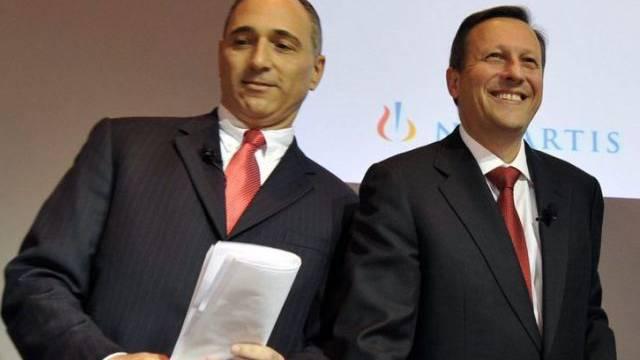 Novartis-CEO Joe Jimenez und Daniel Vasella (Archiv)