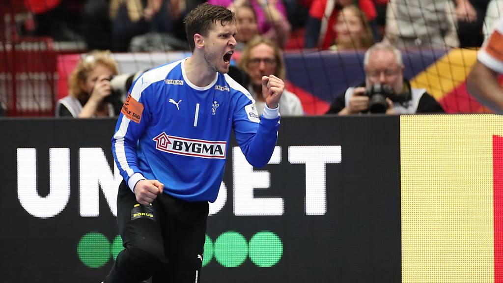 Dank Goalie Niklas Landin kann Olympiasieger und Weltmeister Dänemark noch auf die Hauptrunde hoffen