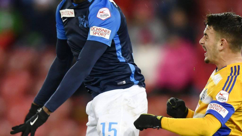 Konnte die siebte Heimniederlage gegen Luzern in Serie trotz seines Tores zum 1:1 nicht abwenden: FCZ-Stürmer Stephen Odey (links)