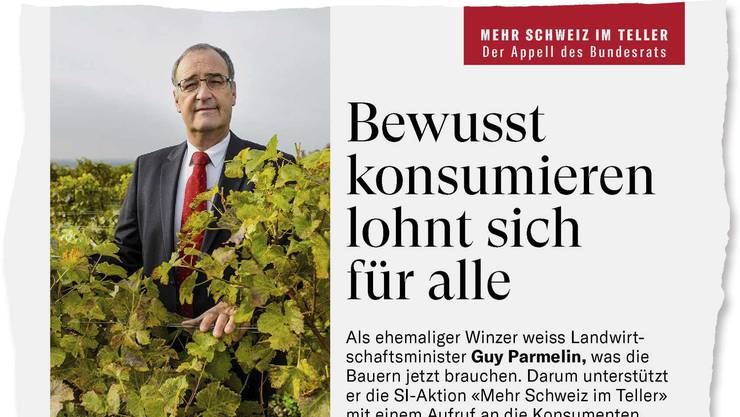 Bundesrat Guy Parmelin griff für eine umstrittene Aktion von «Schweizer Illustrierte» und Bauernverband in die Tasten.