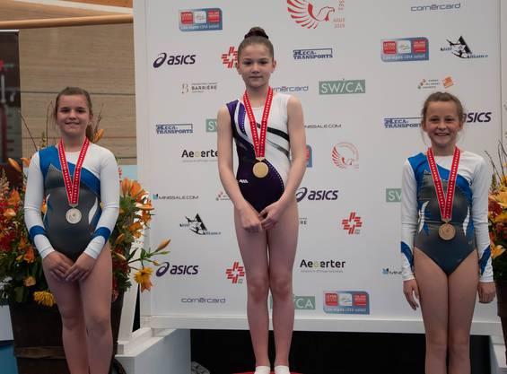 Leonie Schneider auf dem zweiten Platz (links) und Fiona Buser auf dem dritten Platz(rechts)