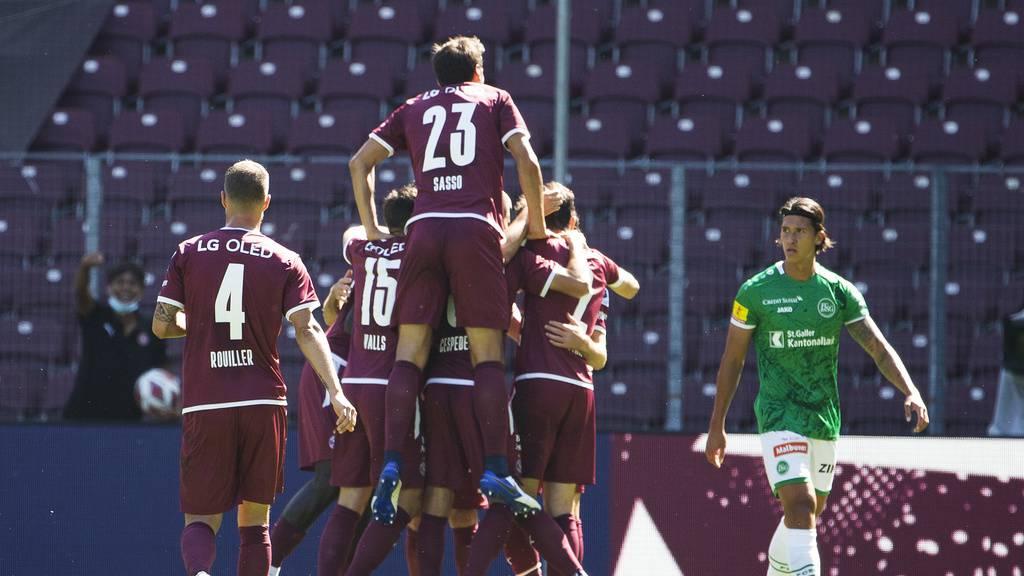 Rot und vier Gegentore nach 26 Minuten: FCSG gegen Servette chancenlos