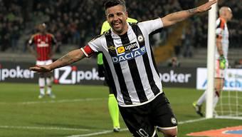 Antonio Di Natale schoss Udinese zum Sieg gegen die AC Milan