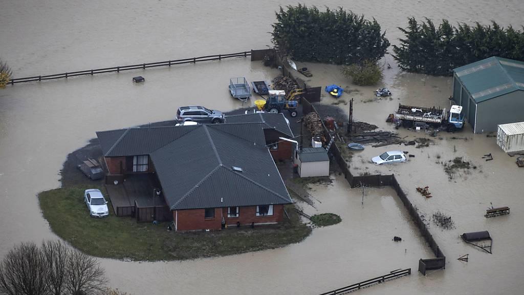 Schwere Überschwemmungen auf Neuseelands Südinsel