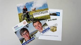 Wahlflyer in der Abstimmungspost der Bellacherinnen und Bellacher.