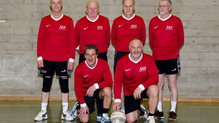Hinten: Res Teller, Hansjörg Keller, Marcel Mühlemann, Godi Grädelel Vorne: Reini Oberle, Koni Keller