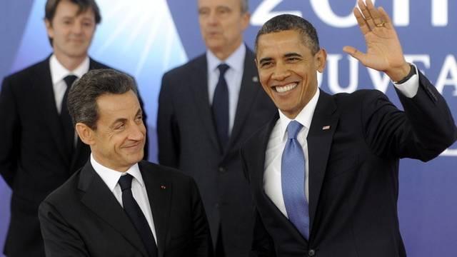 Schwärmen von ihren Töchtern: Sarkozy und Obama in Cannes