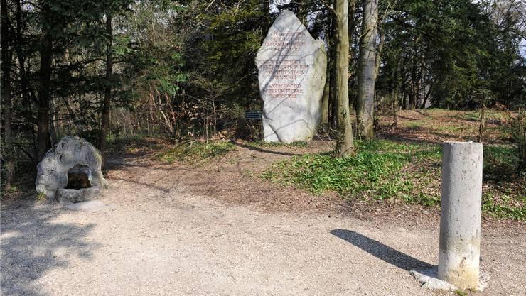 Das Känzeli des Waldparks Wengistein.