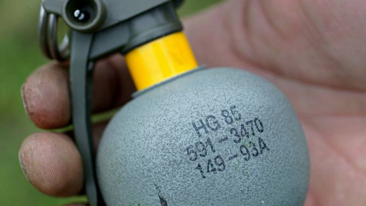 Schweizer Handgranaten des Typs HG85 landeten offenbar in den Händen von IS-Terroristen in Syrien. (Archivbild)