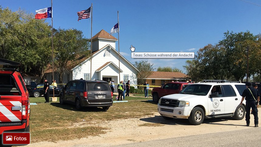 Texas: 26 Tote bei Blutbad in Kirche