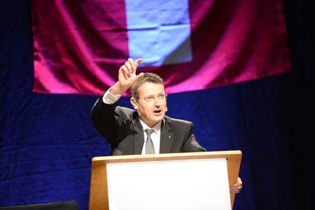 SVP-Nationalrat Thomas Burgherr bei seiner Ansprache