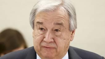 Uno-Generalsekretär Antonio Guterres warnt vor Bioterroristen, die Viren freisetzen könnten. (Archivbild)