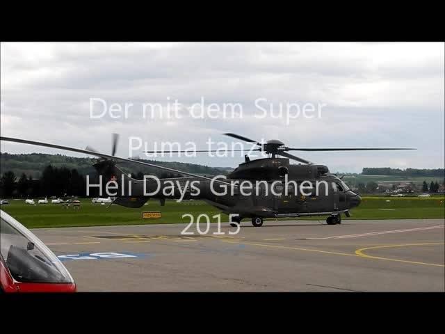 Auftritt des Super Pumas an den Grenchner Helidays 2015