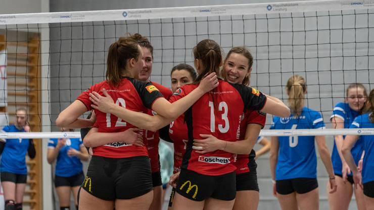 Arbeitssieg der BTV Aarau Volleyball Damen