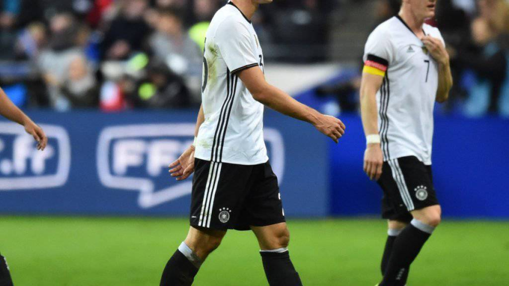 Das deutsche Nationalteam konnte erst am Samstagmorgen das Stadion in Paris verlassen
