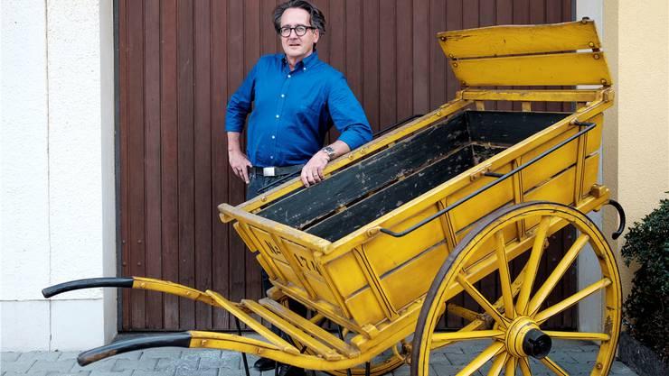 Erich Obrist ist in diesen Tagen mit dem gelben Postwagen auf Wahlkampftour anzutreffen.