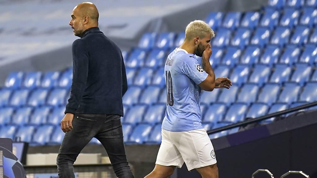 Manchester City bis zu einem Monat ohne Agüero