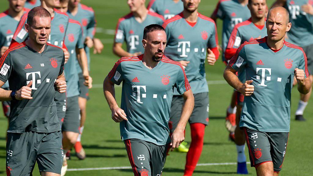 Franck Ribéry ist derzeit mit Bayern München in Katar im Trainingslager