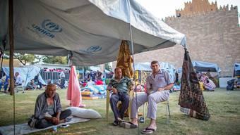 Eines der vielen Flüchtlingslager – hier in Erbil im Nordirak. Hierhin fliehen unter anderem religiöse Minderheiten, die vom IS verfolgt werden.