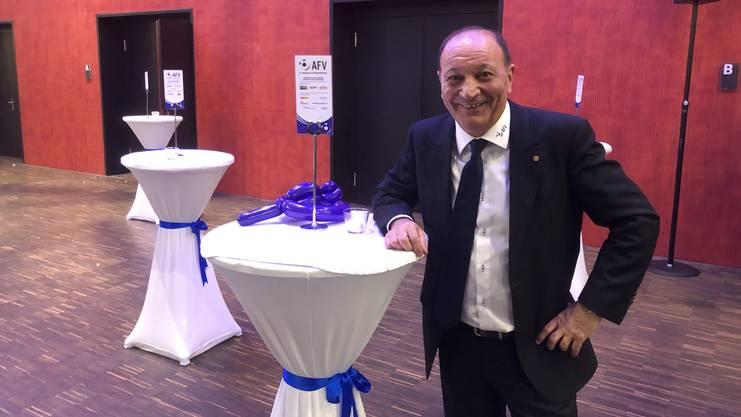Luigi Ponte zeigt sich zufrieden nach seiner ersten Gala als AFV-Präsident.