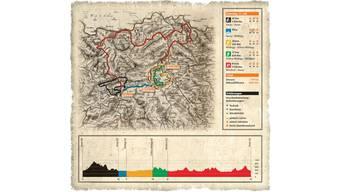 Von Aarau aus führt die Etappe am Samstag über Wildegg und Windisch zurück in die Kantonshauptstadt.