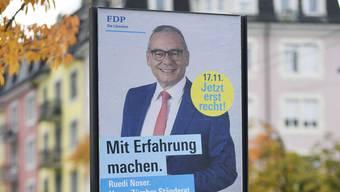 Die Regierungsmitglieder empfahlen im Inserat den FDP-Ständeratskandidaten Ruedi Noser zur Wahl.