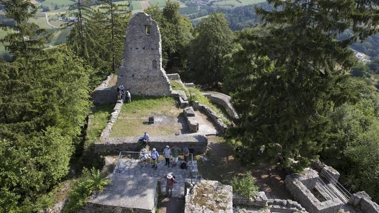 Leserwanderung von Hemmiken BL auf die Sissacherfluh, auf der Ruine Farnsburg
