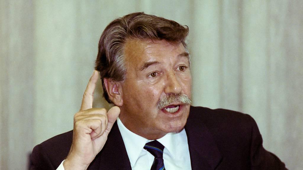 Ehemaliger SP-Bundesrat René Felber gestorben