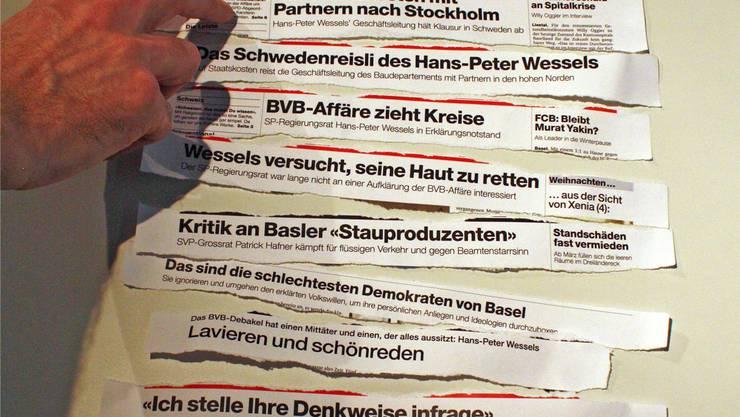 Die «BaZ» schreibt deftige Schlagzeilen gegen den Baudirektor Hans-Peter Wessels.