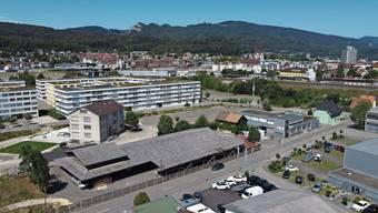 Die Bürgergemeinde Olten besitzt Land neben dem Areal Olten SüdWest, auf dem derzeit der nicht mehr benutzte Forstwerkhof steht (im Vordergrund).