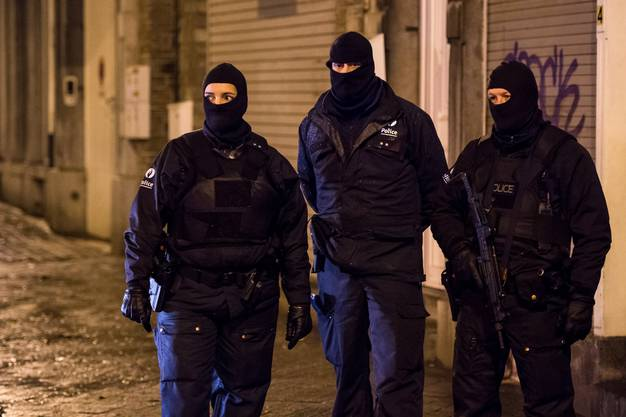 Anti-Terror-Einsatz in Belgien.