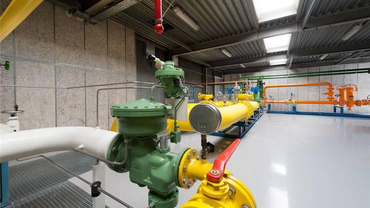 Tarife für Erdgas werden rückwirkend per 1. Mai erhöht. Die Erdgas-Druckreduzierstation Kleinhüningen, in der Erdgas aus dem Transportnetz in das Versorgungsnetz der IWB eingespeist wird. IWB/Mathias Leemann