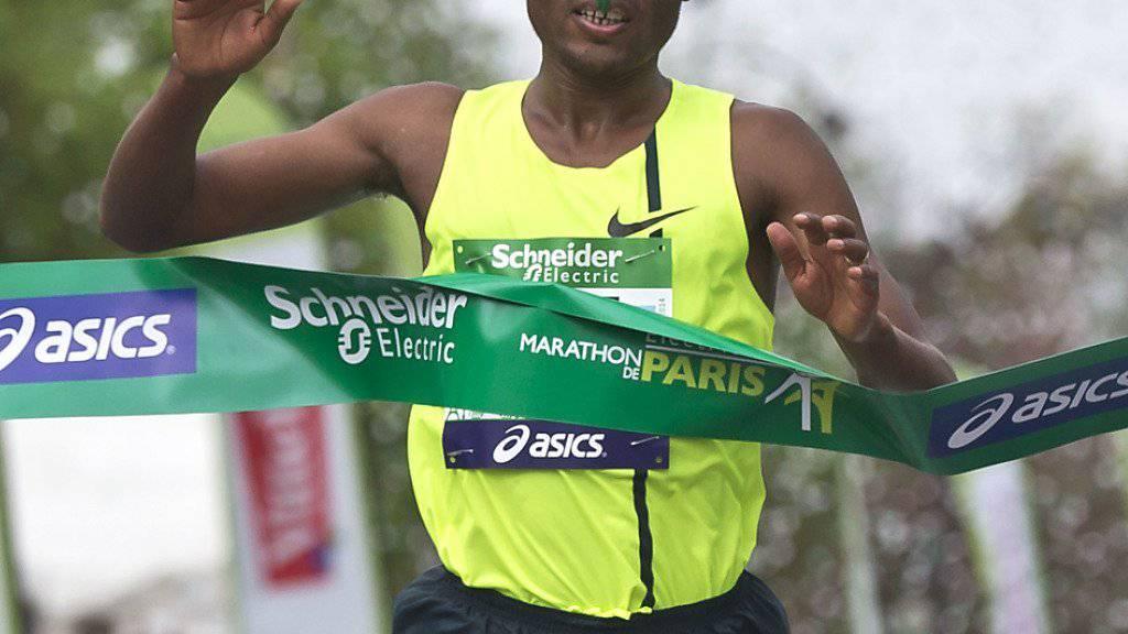 Kenenisa Bekele - im Bild bei seinem Marathon-Sieg 2014 in Paris - steht nicht im Aufgebot des äthiopischen Verbandes für die Olympischen Spiele in Rio
