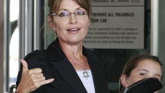 Sarah Palin mit Tochter (Archiv)