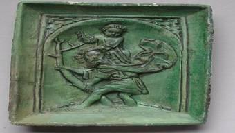 Eine Ofenkachel aus dem Fricktaler Museum. zvg