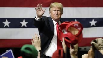 Donald Trump an einer Wahlveranstaltung in Tennessee.