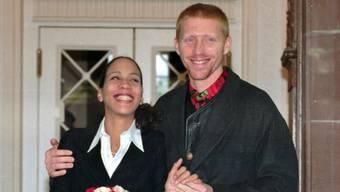 Da war die Welt noch in Ordnung: Barbara (46) und Boris Becker (45) 1993 einen Tag nach ihrer Hochzeit.